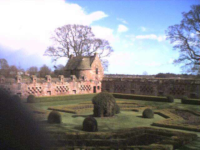 A present-day view of part of Edzell Castle