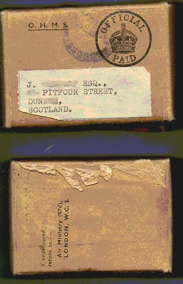 World War Two Medals - Postage Box